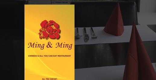 Ming & Ming restaurant menu